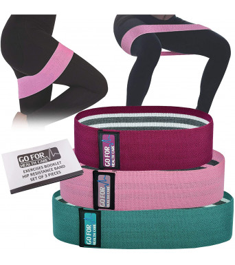 Hip Resistance Bands With Special Designed Name Tag Set Of 3 For Men & Women, Non Slip Excellent Quality