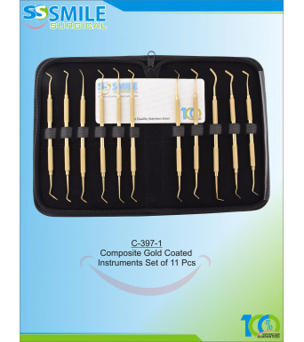 Composite Gold Plasma Coated Instruments Set of 11 Pcs