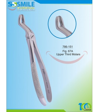 Extracting Forcep English Pattern Fig. 67A Upper Third Molars