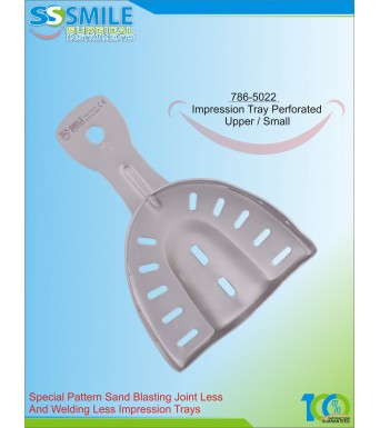 Impression Tray (Sand Blasting) Perforated Upper / Small