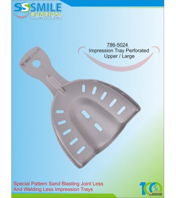 Impression Tray (Sand Blasting) Perforated Upper / Large