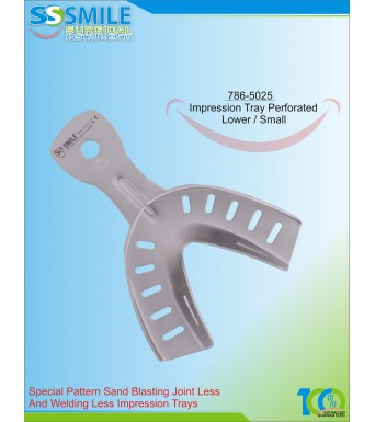 Impression Tray (Sand Blasting) Perforated Lower / Small