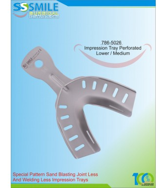 Impression Tray (Sand Blasting) Perforated Lower / Medium
