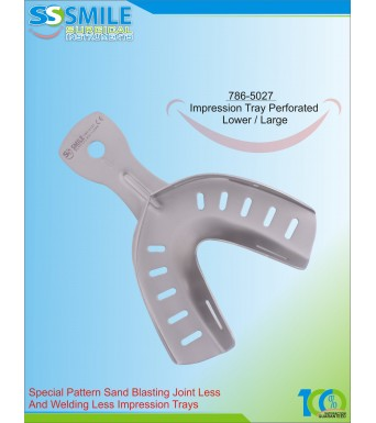 Impression Tray (Sand Blasting) Perforated Lower / Large