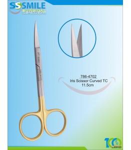 Iris Scissor Curved TC 11.5 cm