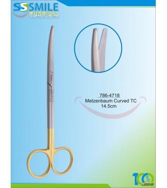 Metzenbaum Scissor Curved TC 14.5 cm