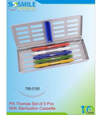 P.K Thomas Set Of 5 Pcs With Sterlisation Casette