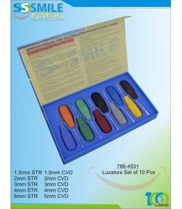 Luxators Set of 10 Pieces (Multi Colour Handles)