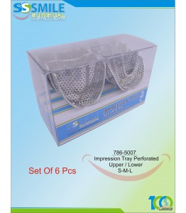 Impression Trays (Regular Pattern) Perforated Set of 6 Pieces